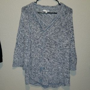 Sonoma | tassle tie vneck knitted sweater